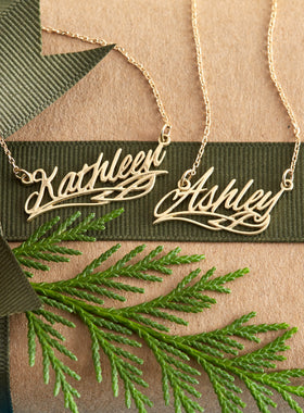 Custom Celtic Golden Name Necklace