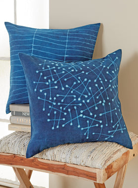 Indigo Magic Throw Pillows
