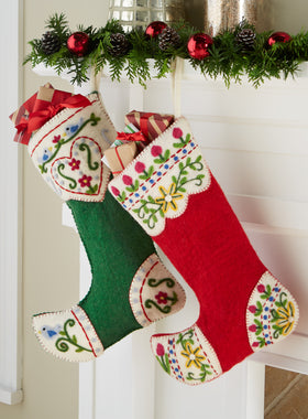 Hand-felted Christmas Stockings