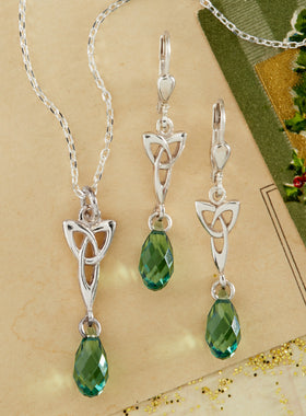 Love Knot Crystal Jewelry