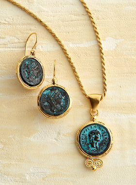 Bronze Caesar Coin Jewelry