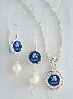 Italian Angel Cameo Jewelry