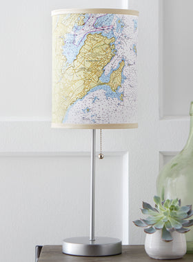 Custom Nautical Chart Lamp
