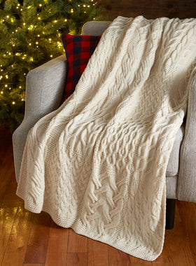 Hearthside Aran Patchwork Throw