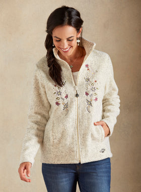 Alpine Flower Wool Jacket