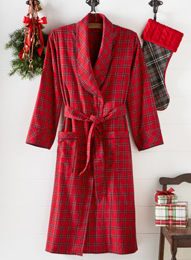Irish Morning Flannel Robe