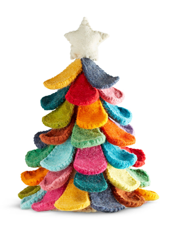 Rainbow Harmony Hand-felted Tree