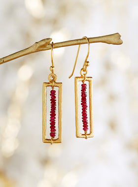Quintilis Ruby Earrings