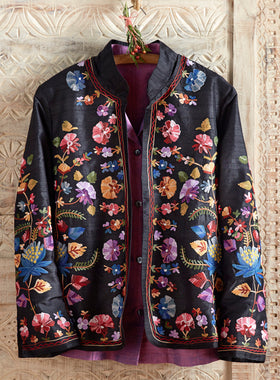 Valley of Flowers Silk Jacket