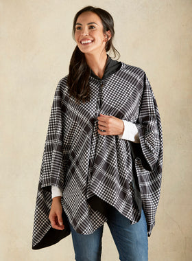 Right as Rain Packable Cape - Houndstooth