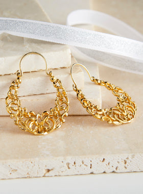 Golden Jasmine Earrings