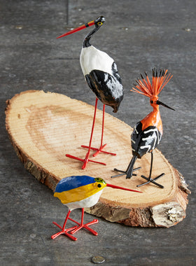 Hand-painted Seedpod Birds - Set of 3