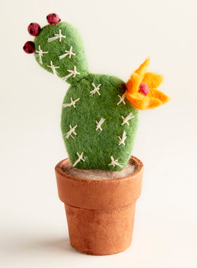Hand-felted Mini Prickly Pear Cactus