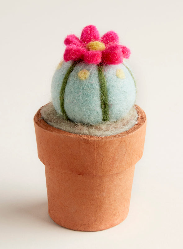 Hand-felted Mini Peyote Cactus