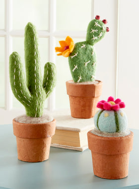 Hand-felted Mini Cactuses