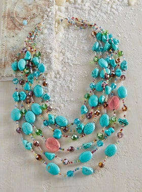 Hidden Treasures Multistrand Necklace