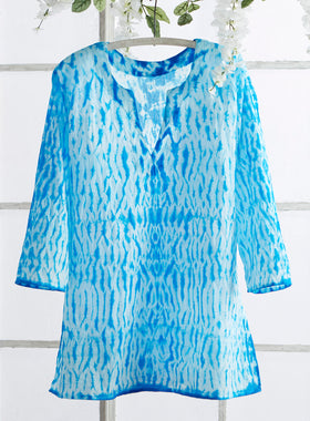 Seaside Shibori Tunic