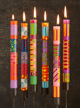 Spark of Color Hand-painted Candles