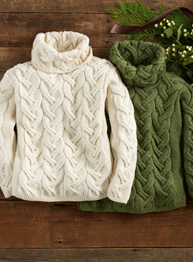 Super Soft Irish Cowl Neck Sweater