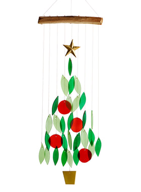 Festive Christmas Tree Wind Chime