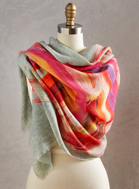 Strokes of Genius Shawl