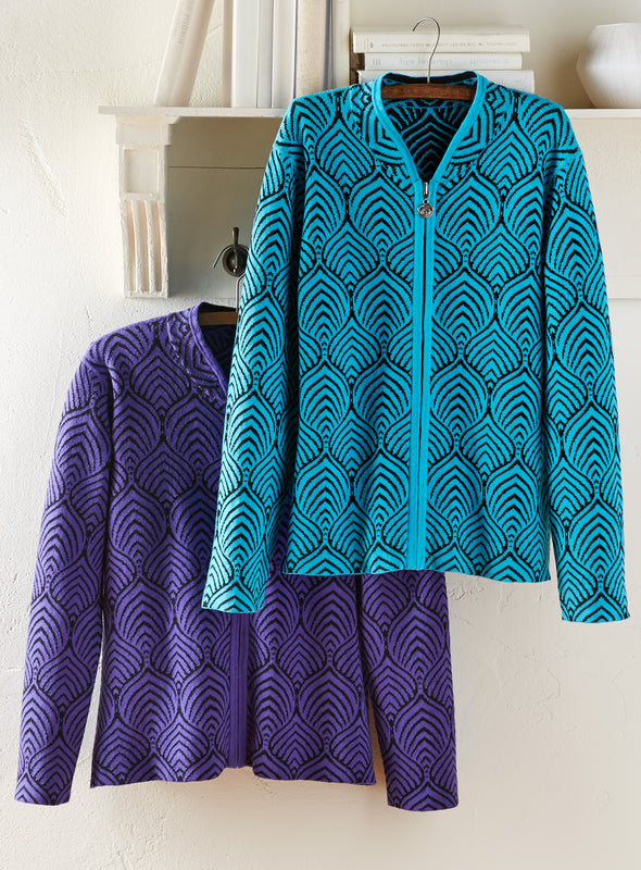 Deco Indulgence Reversible Sweater Jacket