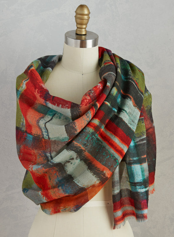 Abstract Admiration Scarf