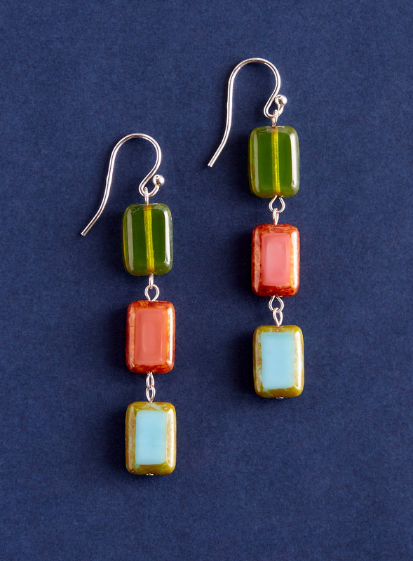 Bohemian Treasures Triple-Tile Earrings