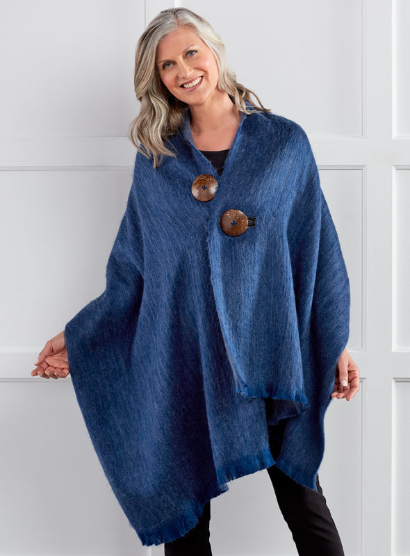 All Buttoned Up Alpaca Wrap