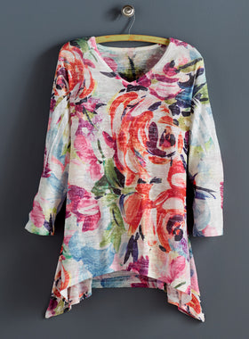 Sunset Serenade Burnout Tunic