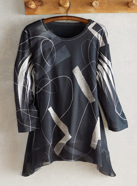 Power Moves 3/4-Sleeve Tunic