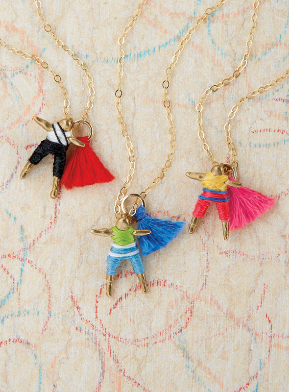 Guatemalan Worry Doll Necklace