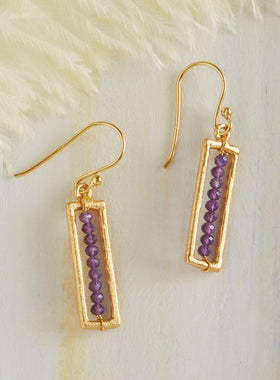 Intoxicating Amethyst Earrings