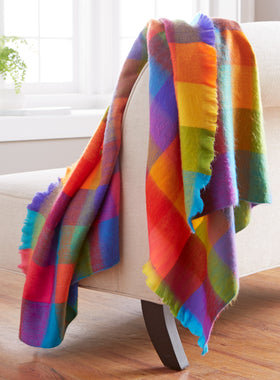Rainbow Fleece Throw