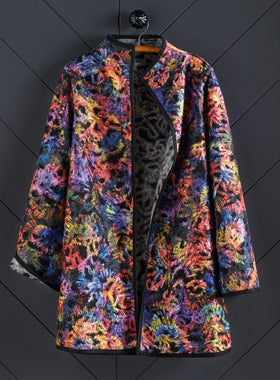 Fireworks Reversible Swing Coat