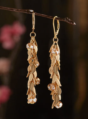Crystal Verdure Earrings