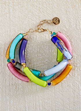 Zuccherata Art Glass Bracelet