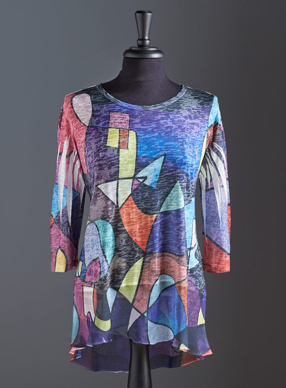 Cubist Coloring Book Tunic