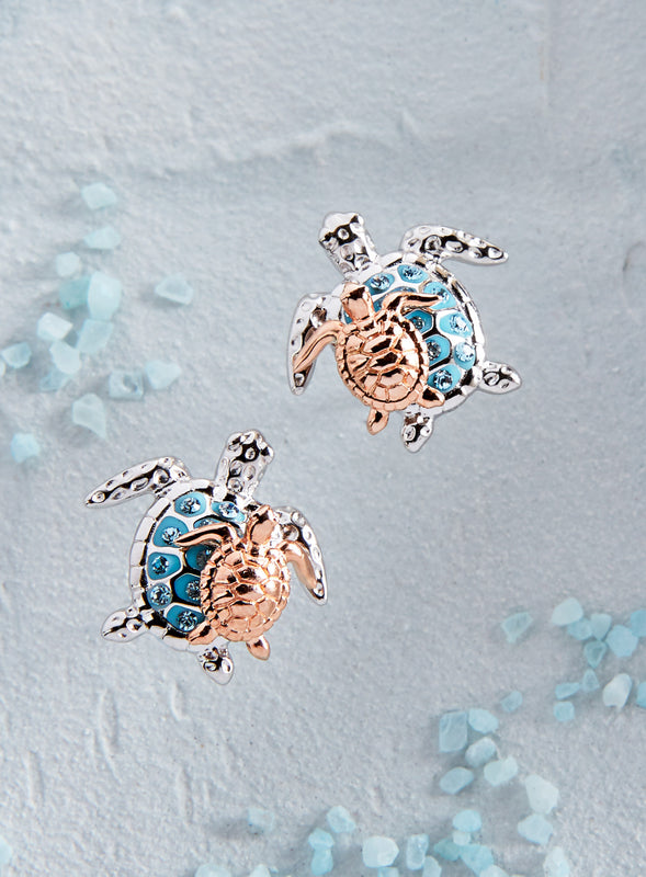 Mother and Child Turtle Earrings
