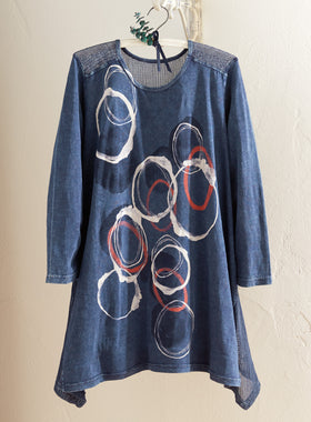 Ring Toss Mineral-washed Tunic