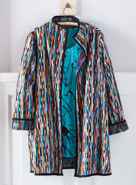 Kaleidoscope Swing Coat