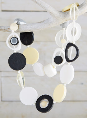 High Impact Modernist Necklace - Mixed Neutrals