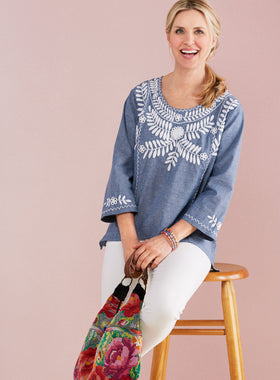 Blue Skies Chambray Tunic