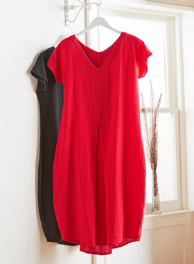 Captiva Drop-waist Cotton Gauze Dress