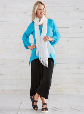 Bainbridge Ruched Cotton Gauze Tunic