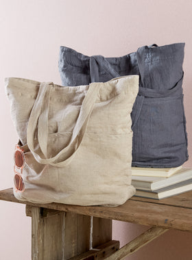 Trianon European Linen Tote Bag