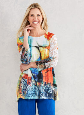 Paintbox Mesh Tunic