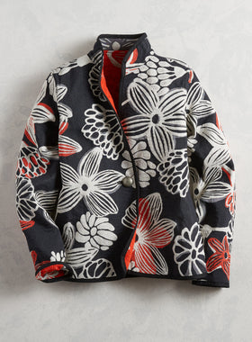 Black and White and Red All Over Reversible Jacket