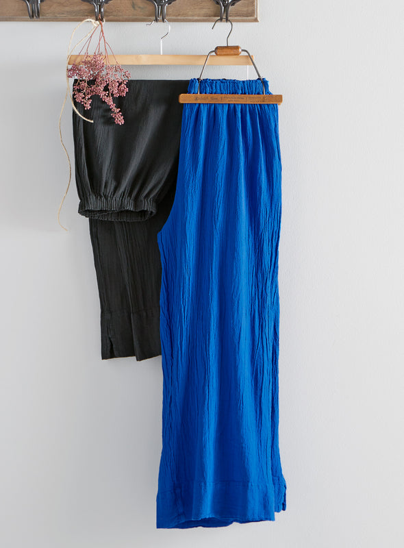 Galveston Wide-Leg Cotton Gauze Pant