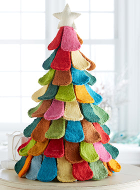 Rainbow Harmony Hand-felted Tree - Large